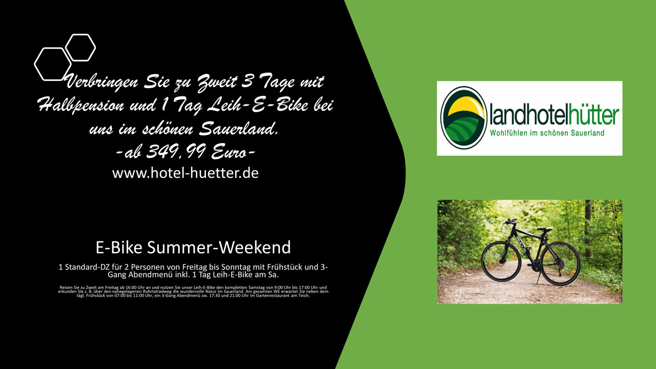 E-Bike Summer-Weekend